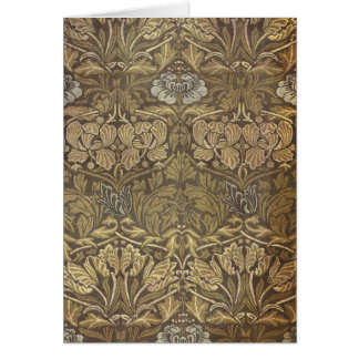 William Morris Tulip and Rose Pattern Stationery Note Card