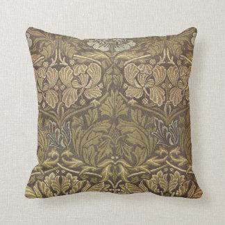 William Morris Tulip and Rose Pattern Pillow
