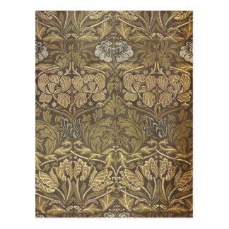 William Morris Tulip and Rose Pattern Post Card