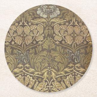 William Morris Tulip and Rose Pattern Round Paper Coaster