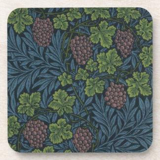 William Morris Vine Wallpaper Design Drink Coaster