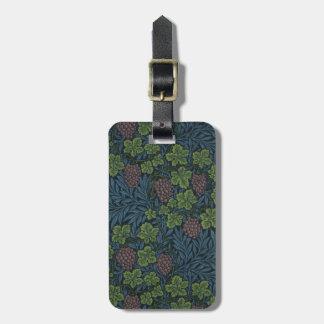 William Morris Vine Wallpaper Design Travel Bag Tag