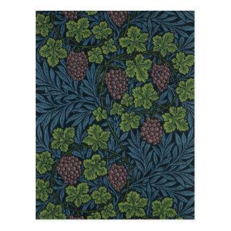 William Morris Vine Wallpaper Design Postcard