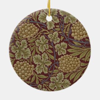 William Morris Vine Wallpaper Pattern Vintage Ceramic Ornament