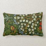 William Morris: Vintage Blackthorn Pattern Pillow