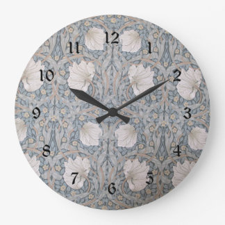 William Morris vintage design, Pimpernel Large Clock