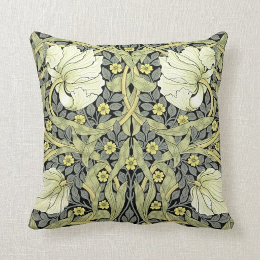 William Morris Vintage Flowers Pillows