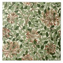 William Morris Vintage Honeysuckle Pattern Tile