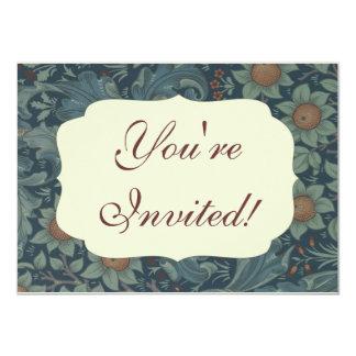 William Morris Vintage Orchard Floral Design 4.5x6.25 Paper Invitation Card