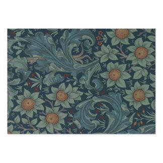 William Morris Vintage Orchard Floral Design Large Business Card