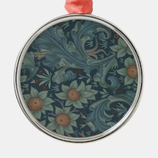 William Morris Vintage Orchard Floral Design Metal Ornament