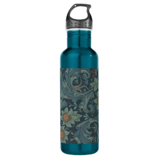 William Morris Vintage Orchard Floral Design 24oz Water Bottle