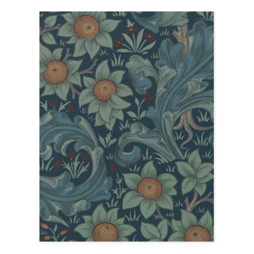 William Morris Vintage Orchard Floral Design Post Card