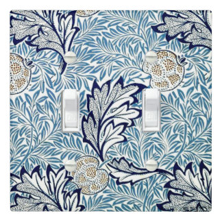 William Morris vintage pattern, Apple Light Switch Cover