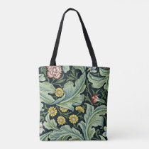 William Morris vintage pattern, Leicester Tote Bag