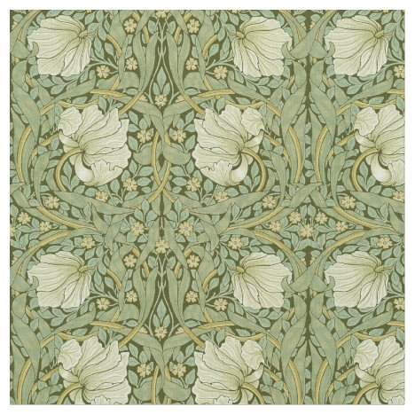 William Morris Vintage Pimpernel Floral Pattern Fabric