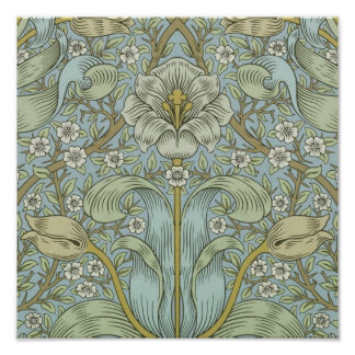 William Morris Vintage Spring thicket Floral Desig Poster