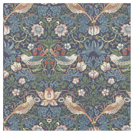 William Morris Vintage Strawberry Thief Pattern Fabric