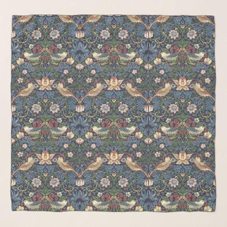 William Morris Vintage Strawberry Thief Pattern Scarf