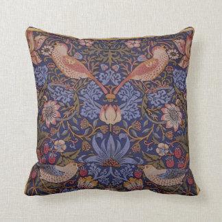 """William Morris Vintage """"Strawberry Thief"""" Throw Pillow"""