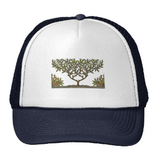 William Morris Vintage Tree Floral Design Trucker Hat