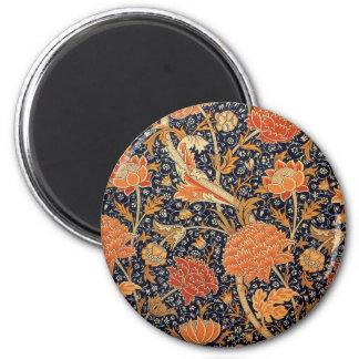 William Morris Wallpaper Cray Design 2 Inch Round Magnet