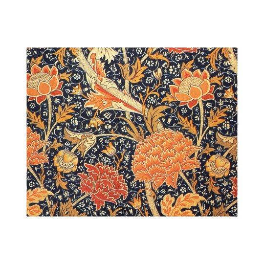 William Morris Wallpaper Cray Design Canvas Print
