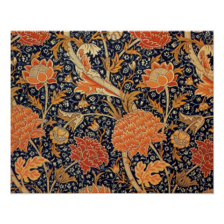 William Morris Wallpaper Cray Design Poster