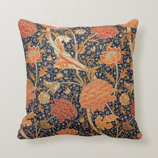 William Morris Wallpaper Cray Design Throw Pillow
