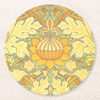 William Morris Wallpaper for St. James Place Round Paper Coaster