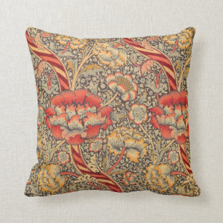 William Morris Wandle for Chintz Design Throw Pillow