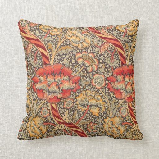 William Morris Wandle for Chintz Design Throw Pillow Zazzle