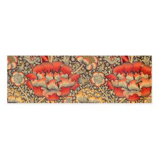 William Morris Wandle para el diseño de la zaraza Plantilla De Tarjeta De Negocio
