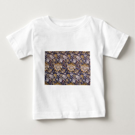 William Morris Wey Floral Wallpaper Design Baby T-Shirt