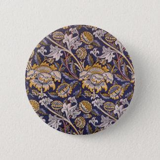William Morris Wey Floral Wallpaper Design Button