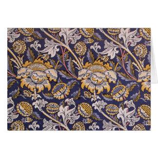 William Morris Wey Floral Wallpaper Design Card