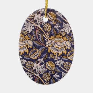 William Morris Wey Floral Wallpaper Design Ceramic Ornament