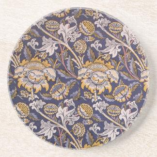 William Morris Wey Floral Wallpaper Design Coaster
