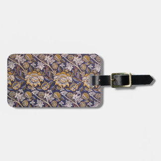 William Morris Wey Floral Wallpaper Design Luggage Tag