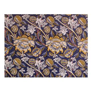 William Morris Wey Floral Wallpaper Design Postcard