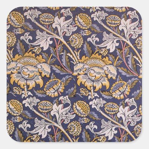 William Morris Wey Floral Wallpaper Design Stickers