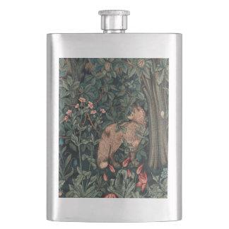 William Morris Wildlife Fox Greenery Art Print Flask