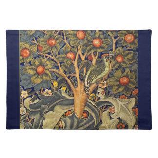 William Morris Woodpecker Pre-Raphaelite Cloth Placemat