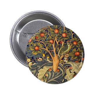 William Morris Woodpecker Pre-Raphaelite Pins