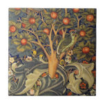 """William Morris Woodpecker Pre-Raphaelite Tile<br><div class=""""desc"""">The Vintage William Morris Woodpecker Tapestry 1877. This tapestry depicts a woodpecker against an ornate backdrop and was designed by Morris & Co in 1877. With most of the company"""
