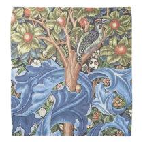 William Morris Woodpecker Tapestry Floral Vintage Bandana