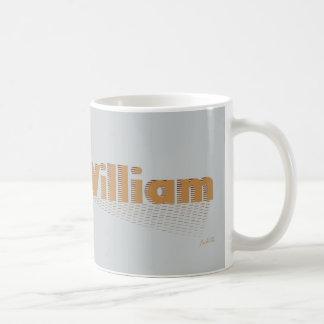 William nombre personalizado taza básica blanca