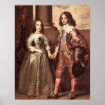 William of Orange with his future bride - Van Dyck Posters