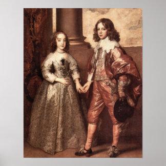 William of Orange with his future bride - Van Dyck Poster
