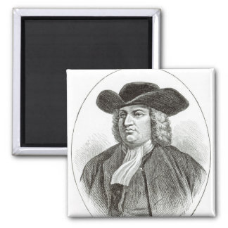 William Penn  engraved by Josiah Wood Whymper 2 Inch Square Magnet